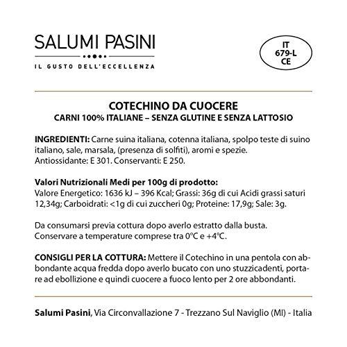 Cotechino, fresh, italian food by Salumi Pasini, 500 gr