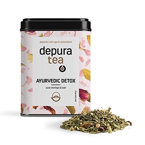 Ayurvedic Detox - Detox Tea 14 Days - Moringa, Tulsi, Lavender, Rose - Increased Vitality, Immune Boosting, Anti-Inflammatory, Relaxing, Digestive