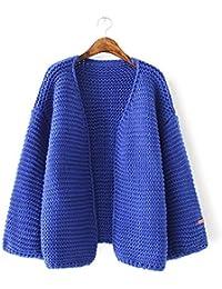 New Ladies Fashion Loose Color Sólido Punto Camisa