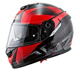 NZI - Casco Integral Symbio 2 DUO Graphics Indy Negro-Rojo Mate Talla XL 60-61cms