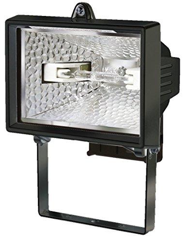 Electraline 63000 - Proyector halógeno con soporte de montaje para exterior (IP54, 120 W) color negro