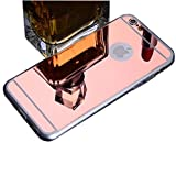 ZhinkArts Handyhülle für Apple iPhone 6 / 6S Hülle - TPU Silikon Backcover Case Schutzhülle - Cover Rosegold Spiegel