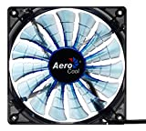 AeroCool Shark Series Ventilateur PC 120 mm Bleu