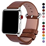 Fullmosa Apple Watch Armband in 15 Farben, Uhrenarmband 38mm/42mm Ersatz Apple Watch Lederarmband...
