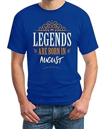 Legends Are Born in August - Geschenke T-Shirt Small Blau