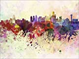 Posterlounge Holzbild 160 x 120 cm: Dallas-Skyline von Editors Choice