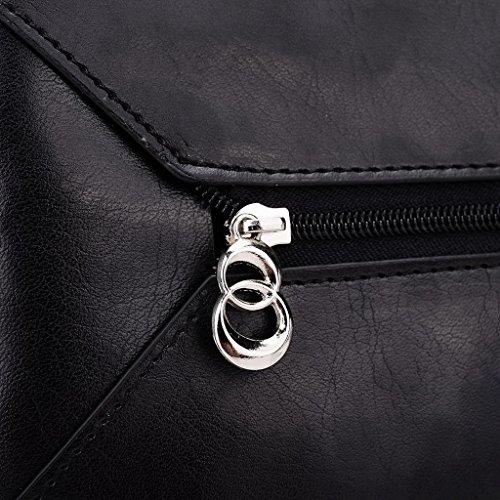 Kroo Pochette Portefeuille en Cuir de Femme avec Bracelet Étui pour Yu yureka noir - Black and Blue noir - Noir/rouge