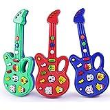 mAjglgE Mini Fumetto elettronico Chitarra educativo per Bambini Strumento Musicale Giocattolo per Bambini–Colore Casuale