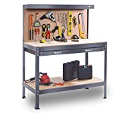 Garage Workbench Pegboard Heavy Duty Steel Multi-Purpose Workbench Tool Table with Large Storage