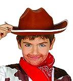 Sombrero de vaquero en fieltro marrón