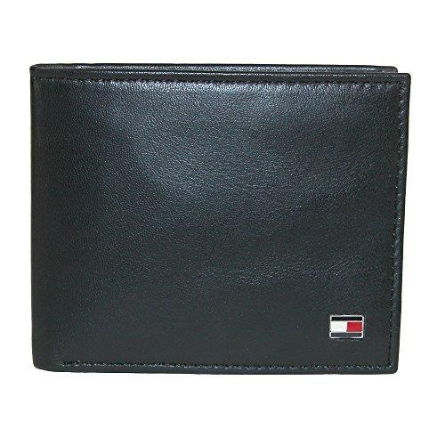 Buy Tommy Hilfiger Men's Leather Slim Billfold Wallet on ...