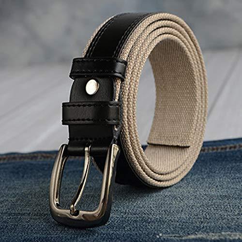 ZHYAODAI Men Military Tactical Buckle Belt Strap Woven Canvas Belt for Men Men, Black, 130Cm.