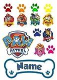 Paw Patrol Kuchenverzierungsset, personalisierbar, essbarer Zuckerguss, junge, Quadrat