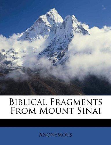 Biblical Fragments From Mount Sinai