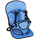 Buyerzone Adjustable Baby Car Cushion Seat with Safety Belt for Child Multi Color