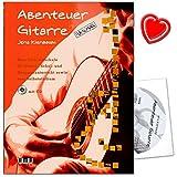 Aventure Guitare–Une école pour lit simple, l'école, et de Cours En Groupe et à autoformation de Jens Kien Arbre avec CD et cœur Note Pince...