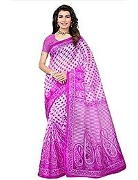 Indian Fashionista Women's Kota Dorie Saree with Blouse Piece (Printed Saree) (NM-KOTADORIE-KD47_Free Size_Pink)