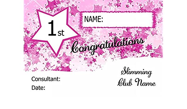 Slimming world weight loss certificates