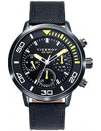 f410d41b662d Viceroy Reloj Multiesfera para Hombre de Cuarzo con Correa en Tela 471027-57
