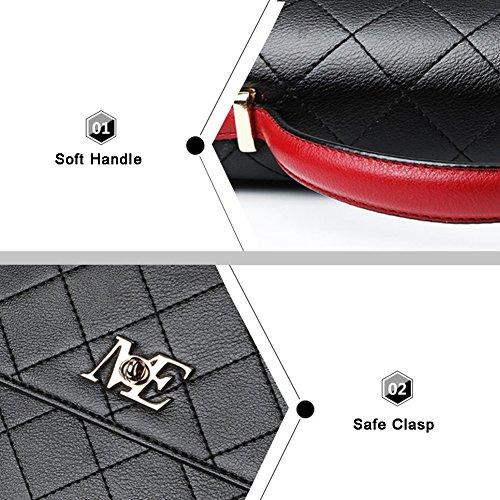 Yoome Clutch mit Windel Crossbody Tote Vintage Taschen für Frauen Make-up Beutel Tasche Beiläufige Taschen - R.Black Rosa