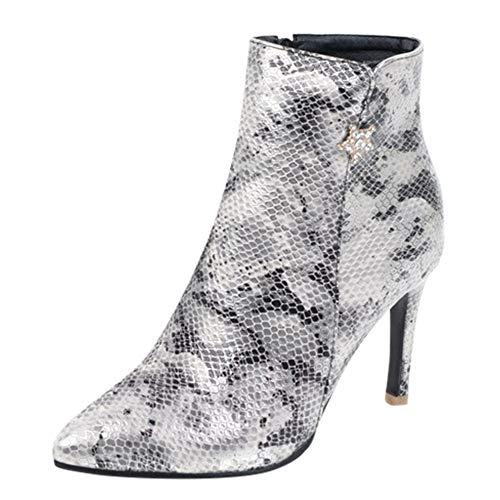 Yvelands Damen High Heel Schuhe Seitlicher Reißverschluss Sexy -