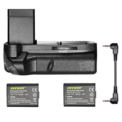 Galleria fotografica Neewer® Impugnatura Portabatteria Verticale con 2 Batterie LP-E10 di Ricambio per Canon EOS 1100D / 1200D / 1300D/ Rebel T3 / T5 / T6