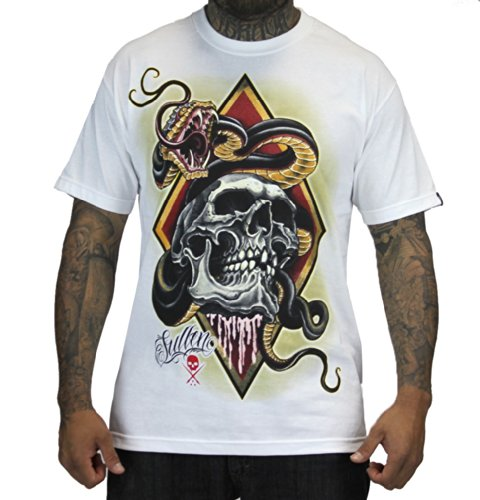 Sullen Diamondback Tattoo Art Ink T - Shirt - Unisex, weiß Weiß