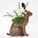 Quail Ceramics Große Hase Blume Vase