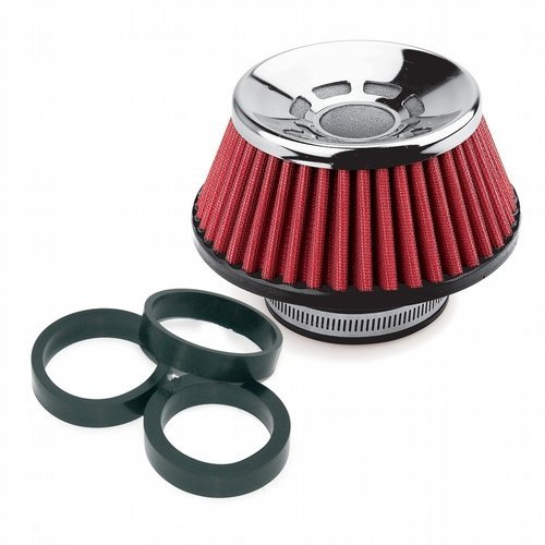 Preisvergleich Produktbild Simoni Racing FSR / UE Ultra-Light Single Cone Filter,  Chrome Cap,  Red Cotton