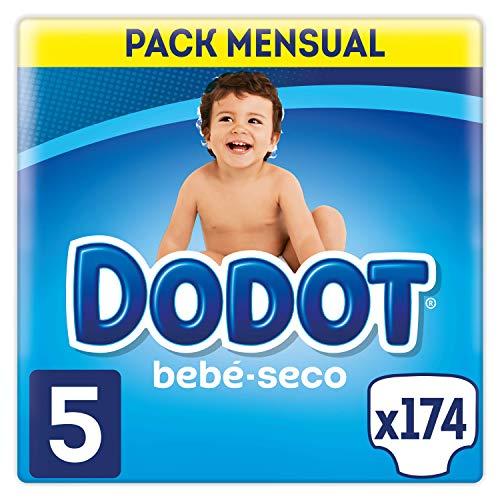 Dodot Bebé-Seco - Pañales, Talla 5, con canales de aire, pack de 174