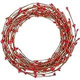 Sumind 85 Pies de Guirnalda de Baya Pip Roja de Navidad para Decoraciones de Navidad Interior Exterior