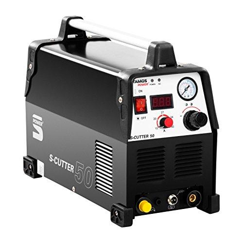 Stamos Power - S-CUTTER 50 - Plasmaschneider Schneidstrom bis 50 Ampere - Schneidleistung von 12 mm - 60% Einschaltdauer - stufenlos einstellbarer Schneidstrom