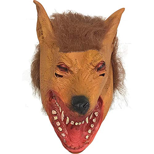 Rwdacfs Halloween mask,Wolf Head Cute Cartoon Latex mask Costume Ball Performance ()