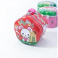 Preisvergleich für Abenily Münzen-Spardose-Geschenkbox Simple Wave Side Spardose Neu Weißblech Aufbewahrungsbox mit Schloss (Rot)