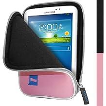 "igadgitz Rosa Neoprene Funda Carcasa Case para Samsung Galaxy Tab 3 & 4 7.0"" GT-P3200 P3220 P3210 SM-210 T210R T211 SM-T230 T231 T235"
