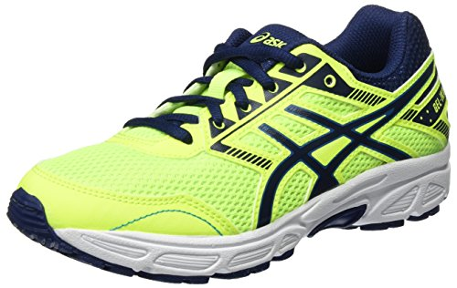 Asics Unisex-Kinder Gel-Ikaia 6 GS Laufschuhe, Gelb (Safety Yellow/Indigo Blue/Thun), 38 EU