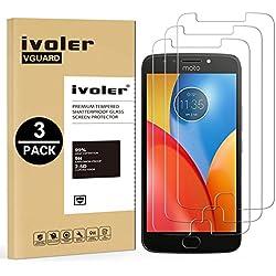 ivoler [Pack de 3] Verre Trempé pour Motorola Moto E4 Plus, Film Protection en Verre trempé écran Protecteur vitre