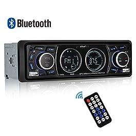 Autoradio Bluetooth ieGeek, Auto Stereo Audio Ricevitore 60WX4 Supporta FM Riproduttore MP3 Player USB/SD/AUX…