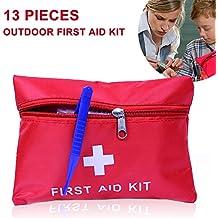 Erste Hilfe, Hoher Qualität Erste-Hilfe-Set mit über 13 Teilen. Erste-Hilfe-Sofortmaßnahmen für Reisen, Auto, zu Hause, Wohnwagen, Kampieren, Outdoor-Camping Wandern Survival Travel und Arbeit