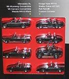1995 Hot Wheels Black Convertible Collection Set of 8 - Mercedes SL/'65 Mustang/'95 Camaro/Mazda MX-5 Miata/Dodge Viper RT/10/Shelby Cora 427 S/C/Roll Patrol/Custom Corvette