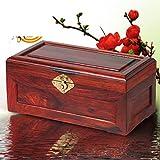 joyero de caoba/Palo madera caja de joyería/caja de almacenamiento antiguos chinos/vintage sólida caja de madera-D - MYITIAN - amazon.es