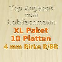 GP 39,61 /€//m/² 5mm Birke Sperrholzplatte Qualit/ät B//BB 76 x 37,5cm