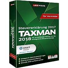 Lexware TAXMAN 2018 Minibox für Vermieter / Übersichtliche Steuererklärungssoftware für Vermieter / Kompatibel mit Windows 7 oder aktueller