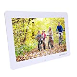 Andoer 14-inch HD LED Digital Picture Frame Wide Screen Digital Album High Resolution 1280*800 Electronic Photo Frame with Remote Control White