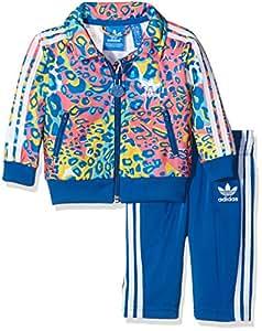 """Adidas–Tuta da Calcio """"Firebird"""", Bambini, Trainingsanzug Soccer Firebird, EQT Blue S16, 62"""