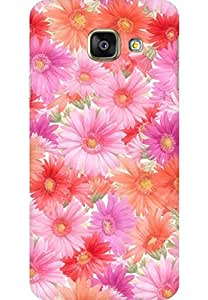 AMEZ designer printed 3d premium high quality back case cover for Samsung Galaxy A3 2016 (flowers bright colourful)