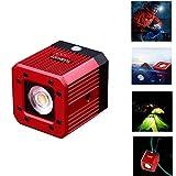 """fotowelt Cube LED Video Luce con 1/4""""20 fori Illuminazione subacquea per Smartphone, DJI Drone, Cameras, Videocamera portatile e Action Cameras-Impermeabile 20M"""