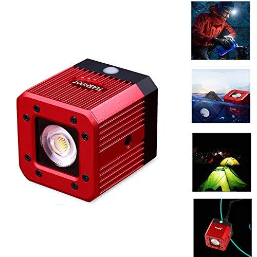 """fotowelt Cube LED-Videolicht mit 1/4"""" 20 Schraubenloch tauch Videolicht Campingbeleuchtung Wasserdicht 20m für DSLR, Digitalkamera,DJI-Drohne und Action-Kamera, 8W (Rot)"""