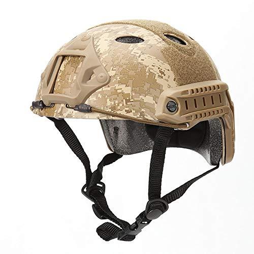 SDKUing Helm, PJ Mode Helme Leichtbau Taktische Schnelle Helm und Schutzbrillefür Jagd Schutzhelm Freizeit Militär Unisex Camouflage Outdoor Integrated Tactical Helm