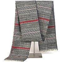 TSLX-Moda cálida mantón bufanda nueva 180X35,Gris claro